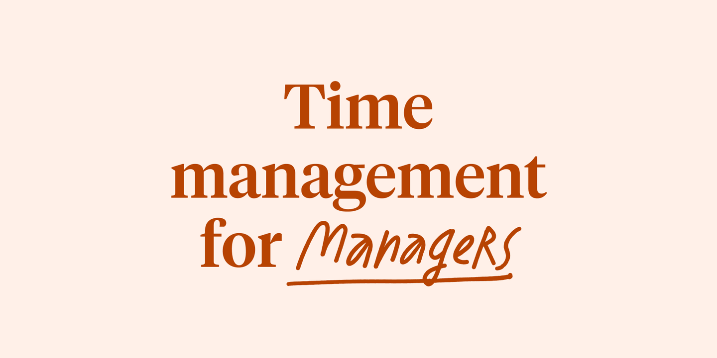 Blog - Time management: a guide for managers