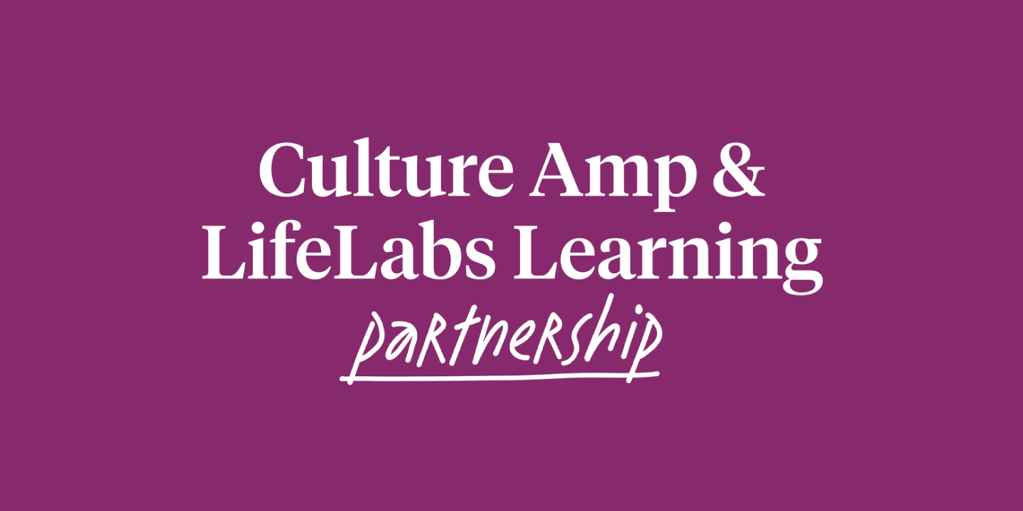 Culture Amp and LifeLabs Learning partnership