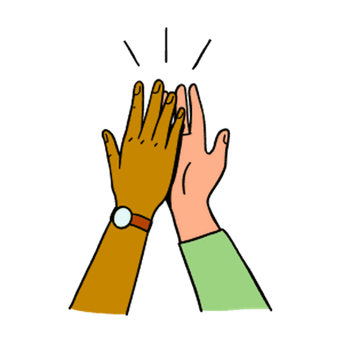 Illustration of a high-five