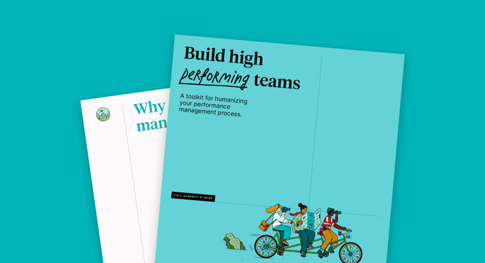 Humanity at work –build high performing teams – social share