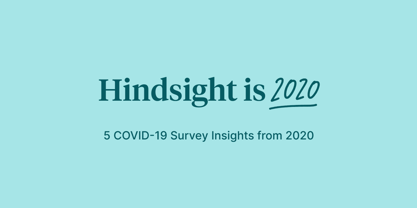 Hindsight is 2020: 5 COVID-19 Survey Insights from 2020