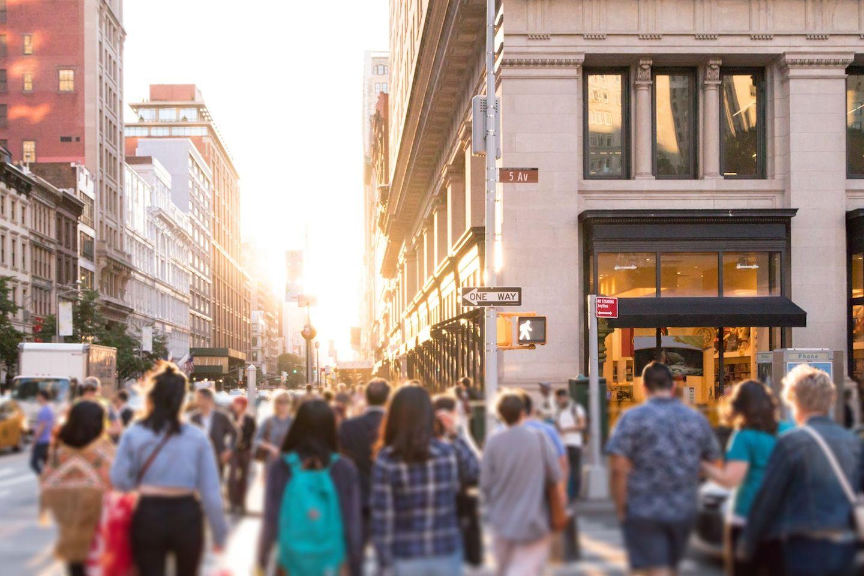 Streetscene stock photo